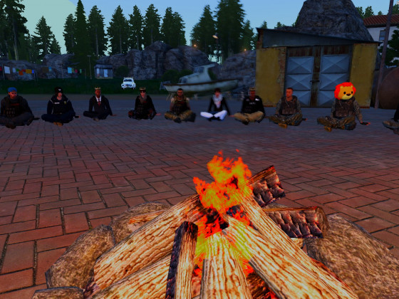 RP-Tag Runde am Lagerfeuer